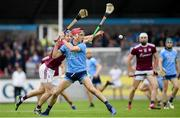 15 June 2019; Danny Sutcliffe of Dublin in action against Padraic Mannion of Galway during the Leinster GAA Hurling Senior Championship Round 5 match between Dublin and Galway at Parnell Park in Dublin. Photo by Ramsey Cardy/Sportsfile