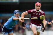 15 June 2019; Jonathan Glynn of Galway in action against Seán Moran of Dublin during the Leinster GAA Hurling Senior Championship Round 5 match between Dublin and Galway at Parnell Park in Dublin. Photo by Ramsey Cardy/Sportsfile