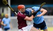 15 June 2019; Conor Whelan of Galway in action against Seán Treacy of Dublin during the Leinster GAA Hurling Senior Championship Round 5 match between Dublin and Galway at Parnell Park in Dublin. Photo by Ramsey Cardy/Sportsfile