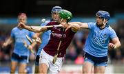 15 June 2019; Adrian Tuohy of Galway in action against Seán Treacy of Dublin during the Leinster GAA Hurling Senior Championship Round 5 match between Dublin and Galway at Parnell Park in Dublin. Photo by Ramsey Cardy/Sportsfile