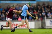 15 June 2019; James Madden of Dublin is tackled by Brian Concannon of Galway during the Leinster GAA Hurling Senior Championship Round 5 match between Dublin and Galway at Parnell Park in Dublin. Photo by Ramsey Cardy/Sportsfile