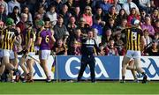 15 June 2019; Wexford manager Davy Fitzgerald reacts during the Leinster GAA Hurling Senior Championship Round 5 match between Wexford and Kilkenny at Innovate Wexford Park in Wexford. Photo by Piaras Ó Mídheach/Sportsfile