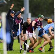 15 June 2019; Galway manager Mícheál Donoghue during the Leinster GAA Hurling Senior Championship Round 5 match between Dublin and Galway at Parnell Park in Dublin. Photo by Ramsey Cardy/Sportsfile