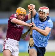 15 June 2019; David Glennon of Galway in action against Paddy Smyth of Dublin during the Leinster GAA Hurling Senior Championship Round 5 match between Dublin and Galway at Parnell Park in Dublin. Photo by Ramsey Cardy/Sportsfile