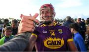 15 June 2019; Lee Chin of Wexford celebrates with supporters after the Leinster GAA Hurling Senior Championship Round 5 match between Wexford and Kilkenny at Innovate Wexford Park in Wexford. Photo by Piaras Ó Mídheach/Sportsfile
