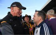 15 June 2019; Kilkenny manager Brian Cody and Wexford manager Davy Fitzgerald in conversation after the Leinster GAA Hurling Senior Championship Round 5 match between Wexford and Kilkenny at Innovate Wexford Park in Wexford. Photo by Piaras Ó Mídheach/Sportsfile