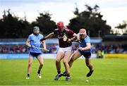 15 June 2019; Jonathan Glynn of Galway in action against Paddy Smyth of Dublin during the Leinster GAA Hurling Senior Championship Round 5 match between Dublin and Galway at Parnell Park in Dublin. Photo by Ramsey Cardy/Sportsfile