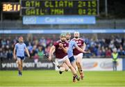 15 June 2019; David Burke of Galway in action against Fergal Whitely of Dublin during the Leinster GAA Hurling Senior Championship Round 5 match between Dublin and Galway at Parnell Park in Dublin. Photo by Ramsey Cardy/Sportsfile