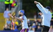 15 June 2019; Wexford goalkeeper Mark Fanning remonstrates with referee Fergal Horgan after a point was awarded against his side in the second half during the Leinster GAA Hurling Senior Championship Round 5 match between Wexford and Kilkenny at Innovate Wexford Park in Wexford. Photo by Piaras Ó Mídheach/Sportsfile