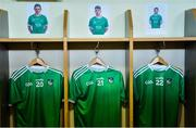 16 June 2019; The jerseys of Limerick substitutes Gearoid Hegarty, Cian Lynch and Graeme Mulcahy hang in the dressing room prior to the Munster GAA Hurling Senior Championship Round 5 match between Tipperary and Limerick in Semple Stadium in Thurles, Co. Tipperary. Photo by Diarmuid Greene/Sportsfile
