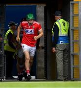 16 June 2019; Seamus Harnedy of Cork leads his side out to the pitch ahead of the Munster GAA Hurling Senior Championship Round 5 match between Clare and Cork at Cusack Park in Ennis, Clare. Photo by Eóin Noonan/Sportsfile
