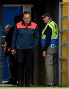 16 June 2019; Cork manager John Meyler makes his way out to the pitch ahead of the Munster GAA Hurling Senior Championship Round 5 match between Clare and Cork at Cusack Park in Ennis, Clare. Photo by Eóin Noonan/Sportsfile