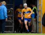 16 June 2019; Patrick O'Connor of Clare leads his side out to the pitch ahead of the Munster GAA Hurling Senior Championship Round 5 match between Clare and Cork at Cusack Park in Ennis, Clare. Photo by Eóin Noonan/Sportsfile