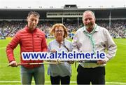 15 June 2019; Pictured at the launch of the Tipperary v Limerick Legends Hurling Clash in aid of The Alzheimer Society of Ireland, which will be held on Saturday, September 7th 2019 (5.00pm Throw-In) during World Alzheimer's Month 2019, are, from left, Ciaran Carey former Limerick star, Kathy Ryan Dementia Advocate and Kevin Quaid at Semple Stadium in Thurles, Tipperary. The match will be held at Nenagh Éire Óg grounds and is being organised by two leading dementia advocates Kevin Quaid and Kathy Ryan who both have a dementia diagnosis. Tickets will be available on Eventbrite. Photo by Ray McManus/Sportsfile