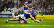 16 June 2019; John McGrath of Tipperary  in action against Sean Finn of Limerick  during the Munster GAA Hurling Senior Championship Round 5 match between Tipperary and Limerick in Semple Stadium in Thurles, Tipperary. Photo by Ray McManus/Sportsfile