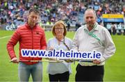 15 June 2019; Pictured at the launch of the Tipperary v Limerick Legends Hurling Clash in aid of The Alzheimer Society of Ireland, which will be held on Saturday, September 7th 2019 (5.00pm Throw-In) during World Alzheimer's Month 2019, are from left, Ciaran Carey former Limerick star, Kathy Ryan Dementia Advocate and Kevin Quaid, at Semple Stadium in Thurles, Tipperary. The match will be held at Nenagh Éire Óg grounds and is being organised by two leading dementia advocates Kevin Quaid and Kathy Ryan who both have a dementia diagnosis. Tickets will be available on Eventbrite. Photo by Ray McManus/Sportsfile