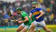 16 June 2019; Sean Finn of Limerick in action against Noel McGrath of Tipperary  during the Munster GAA Hurling Senior Championship Round 5 match between Tipperary and Limerick in Semple Stadium in Thurles, Tipperary. Photo by Ray McManus/Sportsfile