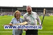 15 June 2019; Pictured at the launch of the Tipperary v Limerick Legends Hurling Clash in aid of The Alzheimer Society of Ireland, which will be held on Saturday, September 7th 2019 (5.00pm Throw-In) during World Alzheimer's Month 2019, are, left Kathy Ryan, Demntia Advocate and right, Kevin Quaid at Semple Stadium in Thurles, Tipperary. The match will be held at Nenagh Éire Óg grounds and is being organised by two leading dementia advocates Kevin Quaid and Kathy Ryan who both have a dementia diagnosis. Tickets will be available on Eventbrite. Photo by Ray McManus/Sportsfile