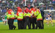 16 June 2019; Patrick Maher of Tipperary is stretchered off during the Munster GAA Hurling Senior Championship Round 5 match between Tipperary and Limerick in Semple Stadium in Thurles, Tipperary. Photo by Ray McManus/Sportsfile