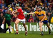 16 June 2019; Alan Cadogan of Cork in action against David McInerney of Clare during the Munster GAA Hurling Senior Championship Round 5 match between Clare and Cork at Cusack Park in Ennis, Clare. Photo by Eóin Noonan/Sportsfile