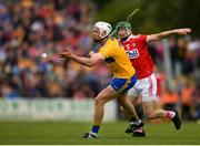 16 June 2019; Conor Cleary of Clare in action against Seamus Harnedy of Cork during the Munster GAA Hurling Senior Championship Round 5 match between Clare and Cork at Cusack Park in Ennis, Clare. Photo by Eóin Noonan/Sportsfile