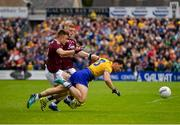 16 June 2019; Diarmuid Murtagh of Roscommon in action against Eoghan Kerin of Galway during the Connacht GAA Football Senior Championship Final match between Galway and Roscommon at Pearse Stadium in Galway. Photo by Seb Daly/Sportsfile