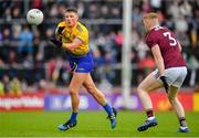 16 June 2019; Conor Cox of Roscommon in action against Seán Andy Ó Ceallaigh of Galway during the Connacht GAA Football Senior Championship Final match between Galway and Roscommon at Pearse Stadium in Galway. Photo by Seb Daly/Sportsfile