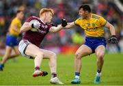 16 June 2019; Peter Cooke of Galway in action against Diarmuid Murtagh of Roscommon during the Connacht GAA Football Senior Championship Final match between Galway and Roscommon at Pearse Stadium in Galway. Photo by Ramsey Cardy/Sportsfile