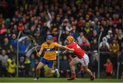 16 June 2019; Shane O'Donnell of Clare in action against Niall O' Leary of Cork during the Munster GAA Hurling Senior Championship Round 5 match between Clare and Cork at Cusack Park in Ennis, Clare. Photo by Eóin Noonan/Sportsfile