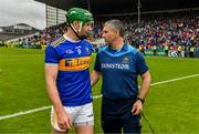 16 June 2019; Tipperary manager Liam Sheedy with Noel McGrath after the Munster GAA Hurling Senior Championship Round 5 match between Tipperary and Limerick in Semple Stadium in Thurles, Co. Tipperary. Photo by Diarmuid Greene/Sportsfile