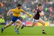 16 June 2019; Shane Walsh of Galway in action against Shane Killoran of Roscommon during the Connacht GAA Football Senior Championship Final match between Galway and Roscommon at Pearse Stadium in Galway. Photo by Ramsey Cardy/Sportsfile
