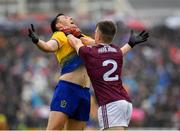 16 June 2019; Diarmuid Murtagh of Roscommon and Eoghan Kerin of Galway tussle off the ball during the Connacht GAA Football Senior Championship Final match between Galway and Roscommon at Pearse Stadium in Galway. Photo by Seb Daly/Sportsfile