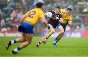 16 June 2019; Shane Walsh of Galway in action against Hubert Darcy of Roscommon during the Connacht GAA Football Senior Championship Final match between Galway and Roscommon at Pearse Stadium in Galway. Photo by Ramsey Cardy/Sportsfile