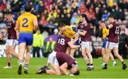 16 June 2019; Peter Cooke of Galway tussles with Niall Daly of Roscommon during the Connacht GAA Football Senior Championship Final match between Galway and Roscommon at Pearse Stadium in Galway. Photo by Ramsey Cardy/Sportsfile