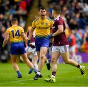 16 June 2019; Diarmuid Murtagh of Roscommon celebrates after scoring his side's first goal of the game during the Connacht GAA Football Senior Championship Final match between Galway and Roscommon at Pearse Stadium in Galway. Photo by Ramsey Cardy/Sportsfile