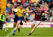 16 June 2019; Enda Smith of Roscommon in action against John Daly of Galway during the Connacht GAA Football Senior Championship Final match between Galway and Roscommon at Pearse Stadium in Galway. Photo by Ramsey Cardy/Sportsfile