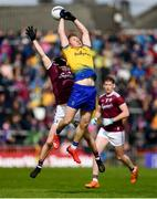 16 June 2019; Niall Daly of Roscommon in action against Johnny Heaney of Galway during the Connacht GAA Football Senior Championship Final match between Galway and Roscommon at Pearse Stadium in Galway. Photo by Ramsey Cardy/Sportsfile