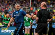 16 June 2019; Tipperary manager Liam Sheedy with referee Sean Cleere prior to the Munster GAA Hurling Senior Championship Round 5 match between Tipperary and Limerick in Semple Stadium in Thurles, Co. Tipperary. Photo by Diarmuid Greene/Sportsfile