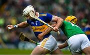 16 June 2019; Padraic Maher of Tipperary in action against Tom Morrissey of Limerick during the Munster GAA Hurling Senior Championship Round 5 match between Tipperary and Limerick in Semple Stadium in Thurles, Co. Tipperary. Photo by Diarmuid Greene/Sportsfile