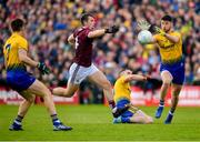 16 June 2019; Shane Killoran of Roscommon in action against Liam Silke of Galway during the Connacht GAA Football Senior Championship Final match between Galway and Roscommon at Pearse Stadium in Galway. Photo by Seb Daly/Sportsfile