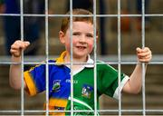 16 June 2019; Tommy O'Regan, aged 5, from Tipperary Town, during to the Munster GAA Hurling Senior Championship Round 5 match between Tipperary and Limerick in Semple Stadium in Thurles, Co. Tipperary. Photo by Diarmuid Greene/Sportsfile
