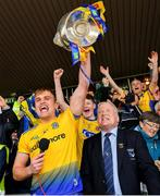 16 June 2019; Roscommon captain Enda Smith lifts the trophy following his side's victory during the Connacht GAA Football Senior Championship Final match between Galway and Roscommon at Pearse Stadium in Galway. Photo by Seb Daly/Sportsfile