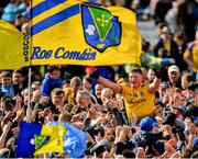 16 June 2019; Conor Cox of Roscommon celebrates with supporters following his side's victory during the Connacht GAA Football Senior Championship Final match between Galway and Roscommon at Pearse Stadium in Galway. Photo by Seb Daly/Sportsfile