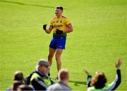 16 June 2019; Conor Cox of Roscommon celebrates kicking a point during the Connacht GAA Football Senior Championship Final match between Galway and Roscommon at Pearse Stadium in Galway. Photo by Seb Daly/Sportsfile