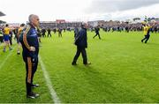 16 June 2019; Roscommon manager Anthony Cunningham watches on as supporters run onto the pitch before the final whistle during the Connacht GAA Football Senior Championship Final match between Galway and Roscommon at Pearse Stadium in Galway. Photo by Ramsey Cardy/Sportsfile