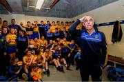 16 June 2019; Roscommon manager Anthony Cunningham and his team in the dressing room following the Connacht GAA Football Senior Championship Final match between Galway and Roscommon at Pearse Stadium in Galway. Photo by Ramsey Cardy/Sportsfile