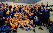 16 June 2019; The Roscommon team celebrate in the dressing room following the Connacht GAA Football Senior Championship Final match between Galway and Roscommon at Pearse Stadium in Galway. Photo by Ramsey Cardy/Sportsfile