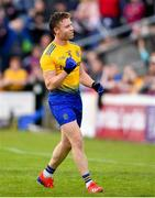 16 June 2019; Niall Daly of Roscommon celebrates a late point during the Connacht GAA Football Senior Championship Final match between Galway and Roscommon at Pearse Stadium in Galway. Photo by Ramsey Cardy/Sportsfile