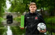 17 June 2019; Sean Gannon of Dundalk pictured with his SSE Airtricity/SWAI Player of the Month award for May 2019 at the Grand Canal Hotel in Dublin. Photo by Sam Barnes/Sportsfile