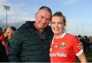 16 June 2019; Saoirse Noonan of Cork poses for a picture with her father, Peter following the TG4 Ladies Football Munster Senior Football Championship Final match between Cork and Waterford at Fraher Field in Dungarvan, Co. Waterford. Photo by Harry Murphy/Sportsfile